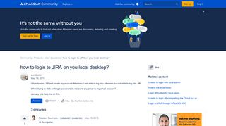 how to login to JIRA on you local desktop? - Atlassian Community