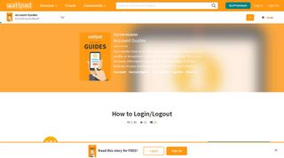 Account Guides - How to Login/Logout - Wattpad
