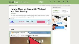 How to Make an Account in Wattpad and Start Posting - wikiHow