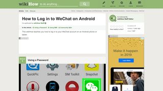 How to Log in to WeChat on Android: 15 Steps (with Pictures)