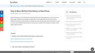 How to Move WeChat Chat History to New Phone - FonePaw