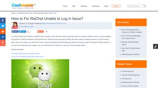 [Fixed!] WeChat Unable to Login - Coolmuster
