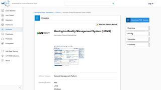 Harrington Quality Management System (HQMS) | IoT ONE