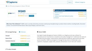 HQMS Reviews and Pricing - 2019 - Capterra