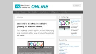 HSCNI Online – Your gateway to local health and care services