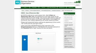 HSCB - Use of Electronic Mail - Business Services Organisation