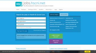 HSCRecruit.com - The official website for Health and Social Care Jobs ...