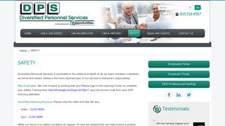 SAFETY - Opportunities, Inc. - Diversified Personnel Services