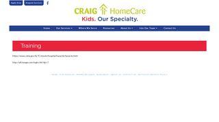 Training - Craig HomeCare