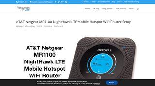 AT&T Netgear MR1100 NightHawk LTE Mobile Hotspot WiFi Router ...