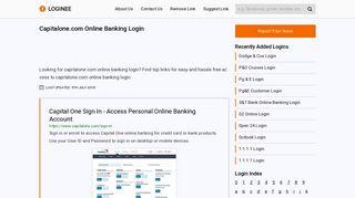 Capitalone.com Online Banking Login