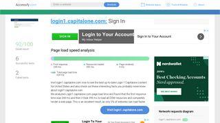 Access login1.capitalone.com. Sign In