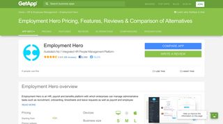 Employment Hero Pricing, Features, Reviews & Comparison of ...