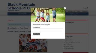 Boosterthon Fun Run - Black Mountain Schools PTO
