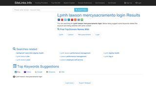 Lpmh lawson mercysacramento login Results For Websites Listing