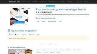 Pmh lawson mercysacramento login Results For Websites Listing
