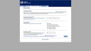 Get Refund Status from the IRS