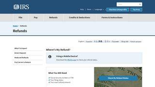 Refund Status - IRS.gov
