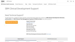 IBM Clinical Development Support - IBM Watson Health Community