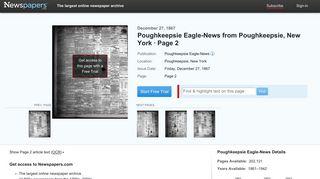 Poughkeepsie Eagle-News from Poughkeepsie, New York on ...
