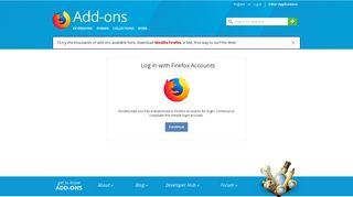 User Login :: Add-ons for Firefox - Firefox Add-ons - Mozilla
