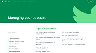 Managing your account - Twitter Help Center