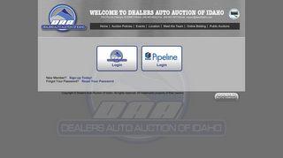 Login   Dealers Auto Auction of Idaho
