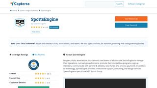SportsEngine Reviews and Pricing - 2019 - Capterra