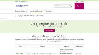 Group Term Life Insurance Plans, Employer Life Insurance   Humana