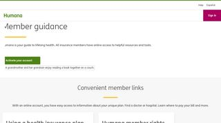 Member Guidance: Online Information, Forms and Assistance - Humana