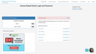 Humax Default Router Login and Password - Clean CSS