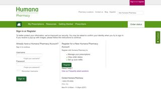 Log In - Humana Pharmacy