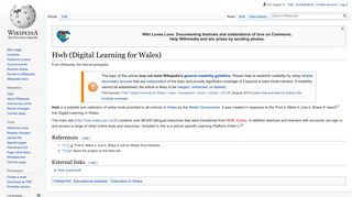 Hwb (Digital Learning for Wales) - Wikipedia