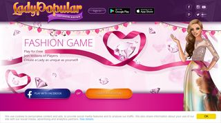 LADY POPULAR: The best online fashion & dress up game!