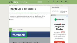 How to Log in to Facebook: 9 Steps (with Pictures) - wikiHow