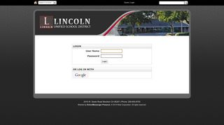 Login - Lincoln Unified School District