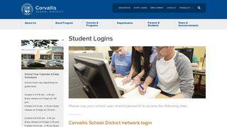 Student Logins - Corvallis School District