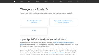 Change your Apple ID - Apple Support