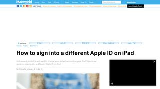 How to sign into a different Apple ID on iPad - Macworld UK