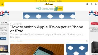 How to switch Apple IDs on your iPhone or iPad   iMore