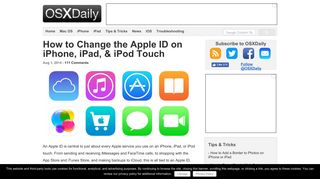 How to Change the Apple ID on iPhone, iPad, & iPod Touch