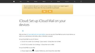iCloud: Set up iCloud Mail on your devices - Apple Support