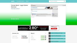 login.icorner.ch - Cornèr Bank - Login Online Ser... - Login Icorner