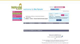 IDIALU - I Dial U - Virtual Credit Call Center Agent - WAHM Forums ...