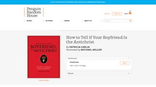 How to Tell if Your Boyfriend Is the Antichrist by Patricia Carlin ...