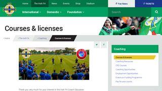 Courses & licenses | IFA