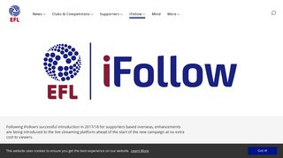 EFL Official Website - iFollow - EFL.com