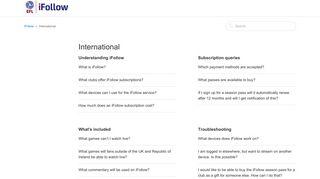 International – iFollow