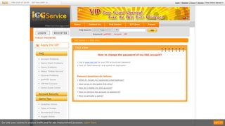 How to change the password of my IGG account? - IGG.com--Service ...