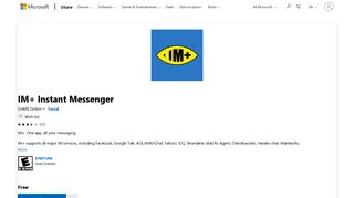 Get IM+ Instant Messenger - Microsoft Store